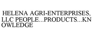mark for HELENA AGRI-ENTERPRISES, LLC PEOPLE...PRODUCTS...KNOWLEDGE, trademark #87743549