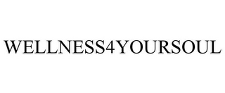 mark for WELLNESS4YOURSOUL, trademark #87744869