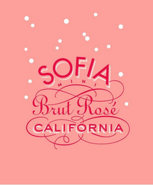 mark for SOFIA MINI BRUT ROSÉ CALIFORNIA, trademark #87753978