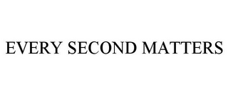 mark for EVERY SECOND MATTERS, trademark #87756416
