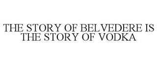 mark for THE STORY OF BELVEDERE IS THE STORY OF VODKA, trademark #87771032