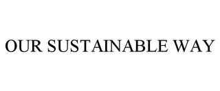 mark for OUR SUSTAINABLE WAY, trademark #87772680