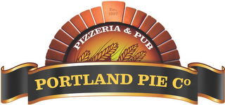 mark for EST 1997 PIZZERIA & PUB PORTLAND PIE CO. DELIVERY DINING TAKEOUT, trademark #87774494