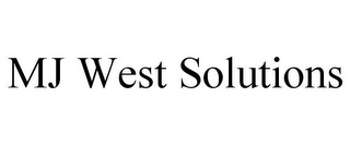 mark for MJ WEST SOLUTIONS, trademark #87775854