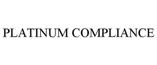 mark for PLATINUM COMPLIANCE, trademark #87786997
