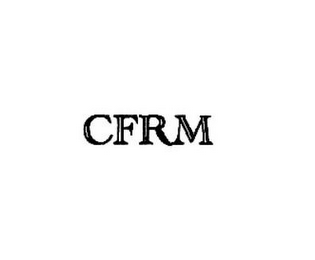 mark for CFRM, trademark #87789762