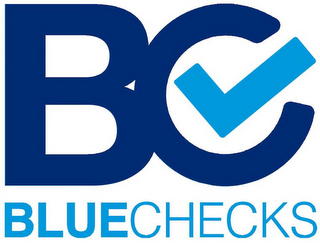 mark for B C BLUE CHECKS., trademark #87798367