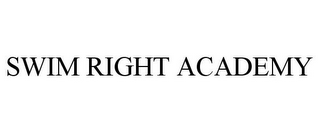 mark for SWIM RIGHT ACADEMY, trademark #87807262