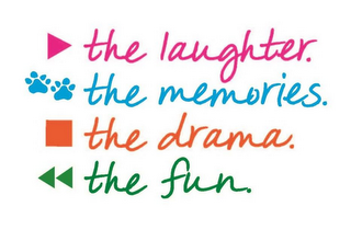 mark for PLAY THE LAUGHTER. PAUSE THE MEMORIES. STOP THE DRAMA. REWIND THE FUN., trademark #87808794