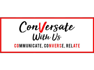 mark for CONVERSATE WITH US COMMUNICATE, CONVERSE, RELATE, trademark #87814039