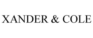 mark for XANDER & COLE, trademark #87815647