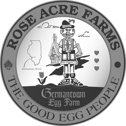 mark for ROSE ACRE FARMS THE GOOD EGG PEOPLE GERMANTOWN, ILLINOIS GERMANTOWN EGG FARM, trademark #87819884