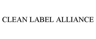 mark for CLEAN LABEL ALLIANCE, trademark #87822661