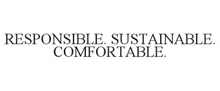 mark for RESPONSIBLE. SUSTAINABLE. COMFORTABLE., trademark #87825130