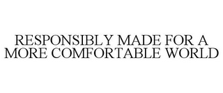 mark for RESPONSIBLY MADE FOR A MORE COMFORTABLE WORLD, trademark #87825133