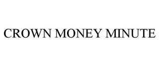 mark for CROWN MONEY MINUTE, trademark #87825237