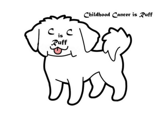 mark for CHILDHOOD CANCER IS RUFF, trademark #87828570