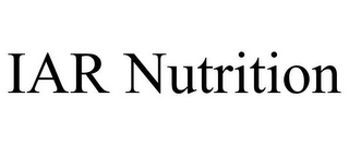 mark for IAR NUTRITION, trademark #87828644