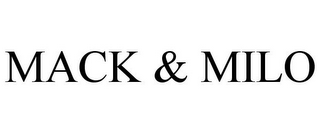 mark for MACK & MILO, trademark #87831628
