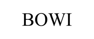mark for BOWI, trademark #87833822