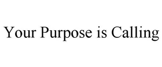 mark for YOUR PURPOSE IS CALLING, trademark #87835922