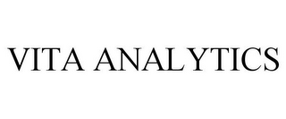 mark for VITA ANALYTICS, trademark #87837037