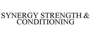 mark for SYNERGY STRENGTH & CONDITIONING, trademark #87841005