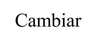 mark for CAMBIAR, trademark #87842793