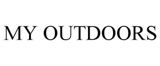 mark for MY OUTDOORS, trademark #87846602