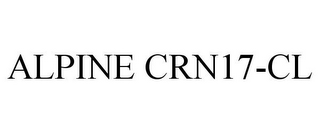 mark for ALPINE CRN17-CL, trademark #87846869
