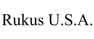 mark for RUKUS U.S.A., trademark #87847544