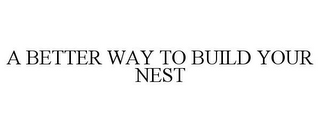 mark for A BETTER WAY TO BUILD YOUR NEST, trademark #87849433