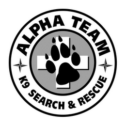 mark for ALPHA TEAM K9 SEARCH & RESCUE, trademark #87849845