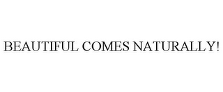 mark for BEAUTIFUL COMES NATURALLY!, trademark #87864362