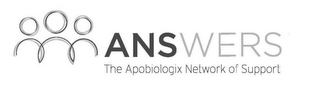 mark for ANSWERS THE APOBIOLOGIX NETWORK OF SUPPORT, trademark #87870985
