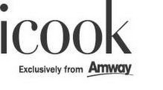 mark for ICOOK EXCLUSIVELY FROM AMWAY, trademark #87876335