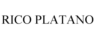 mark for RICO PLATANO, trademark #87909896