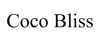 mark for COCO BLISS, trademark #87916205