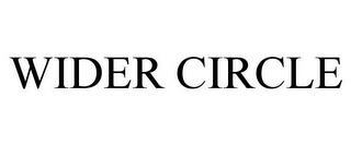 mark for WIDER CIRCLE, trademark #87932013