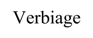 mark for VERBIAGE, trademark #87932046