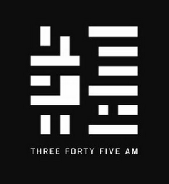 mark for THREE FORTY FIVE AM, trademark #87932102