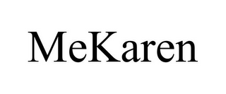 mark for MEKAREN, trademark #87932443
