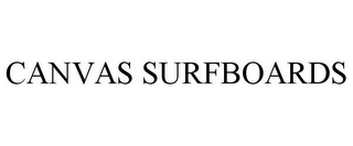 mark for CANVAS SURFBOARDS, trademark #87937691
