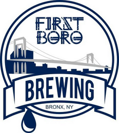 mark for FIRST BORO, BREWING, BRONX, NY, trademark #87937803