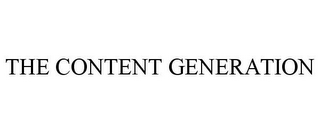 mark for THE CONTENT GENERATION, trademark #87937825