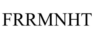 mark for FRRMNHT, trademark #87937976