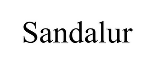 mark for SANDALUR, trademark #87938681