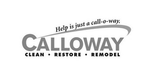 mark for CALLOWAY CLEAN RESTORE REMODEL HELP IS JUST A CALL-O-WAY, trademark #87938861