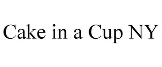mark for CAKE IN A CUP NY, trademark #87938898