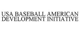 mark for USA BASEBALL AMERICAN DEVELOPMENT INITIATIVE, trademark #87938916